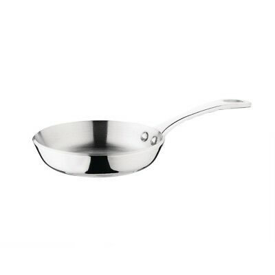 Vogue Tri Wall Mini Frypan Stainless Steel Frying Kitchen Restaurant Cookware