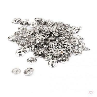 100 Sets Brass SEW ON Buttons/Press Studs/Poppers/Snaps/Fasteners 8mm