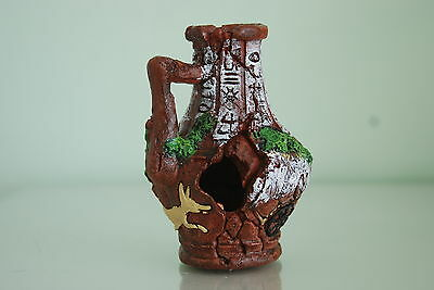 Vivarium or Aquarium Broken Sucken Vase Pot Decoration 11 x 11 x 12 cms