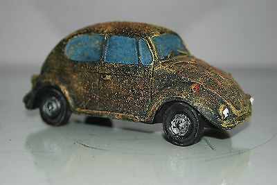 VW Beetle Old Rustic Style Car Decoration 14 x 6 x 6 Suitable For All Aquariums