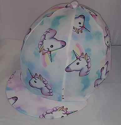 Riding Hat Cover - Unicorns - Multi Colours - White, Pink, Lilac Etc