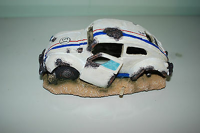Aquarium VW Herbie car Decoration & Bubble Exhaust Size 15 x 10 x 7 cms