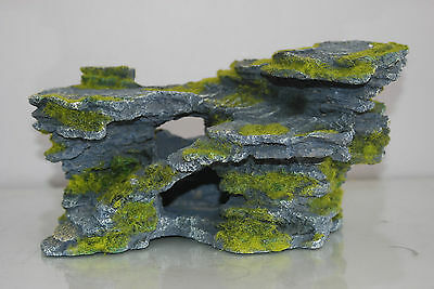 Aquarium Large Detailed Rock & Moss Decoration 30x18x15 cms For All Aquariums