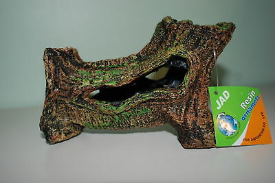 Aquarium Hollow Log Decoration Suitable for All Aquariums Size 19 x 8 x 11cms