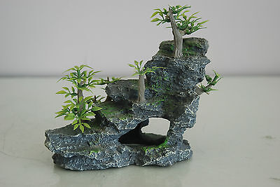 Aquarium Detailed Rock & Plant Decoration 15 x 8 x 13 cms For All Aquariums