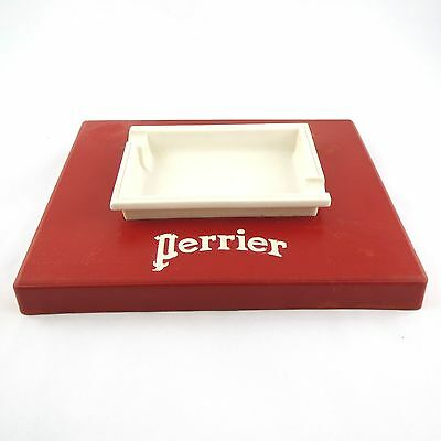 CENDRIER COLLECTOR Vintage PERRIER Rouge&Blanc publicitaire/bar/ashtray, RARE !
