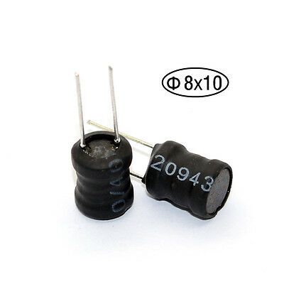 10pcs 10MH Inductor choke Radial Lead Power Inductor 8*10