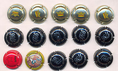 15 Used Champagne Caps (from RUSSIA) Lot #1