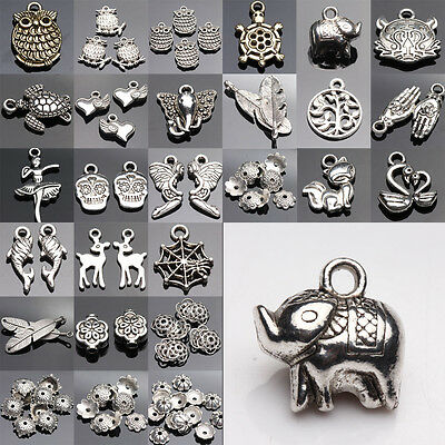 Lots Top Tibetan Silver Charms Beads Findings Jewellery Making Crafts Gift DIY