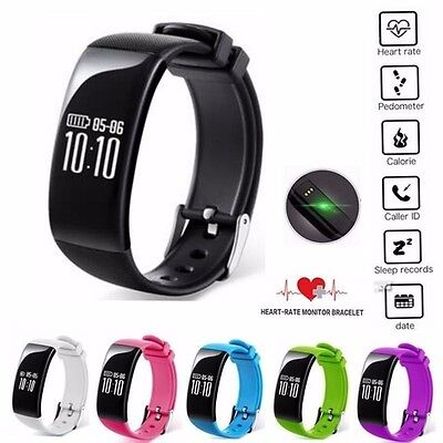 X16 Bluetooth Smart Watch Heart Rate Monitor Pedometer Fitness Activity Tracker