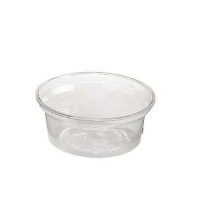 50X Huhtamaki Portion Pot Clear 50ml / Commercial Takeaway Restaurant Cafe