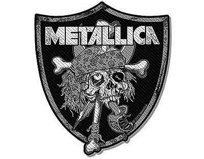 METALLICA raiders skull - 2013 - WOVEN SEW ON PATCH official merchandise