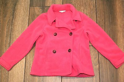 LANDS' END girls pink cosy fleece jacket, 5-6 years, excellent condition