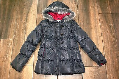 PUMPKIN PATCH girls grey padded shower proof winter coat, 10 years, exc cond