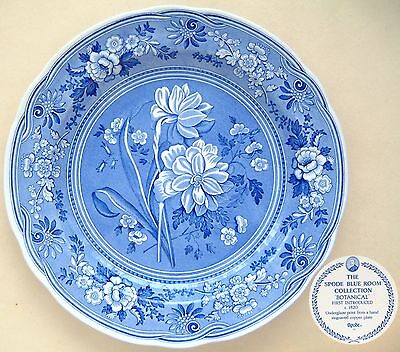 "Spode 'Blue Room Collection': Botanical: Plate: 10"" Diameter"