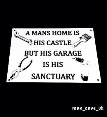 Funny Sign - Wall Plaque - Man Cave - Workshop - Garage - Shed - Funny Gift