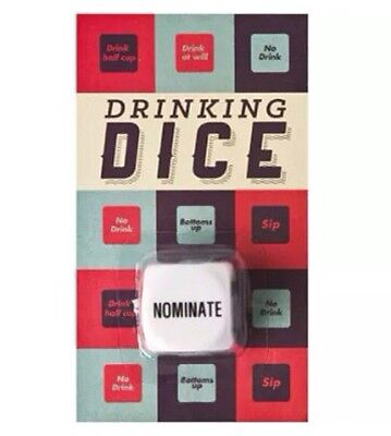 Drinking Fun - Dice Game - Stag Hen Party - BBQ - Drinking Game - Gift