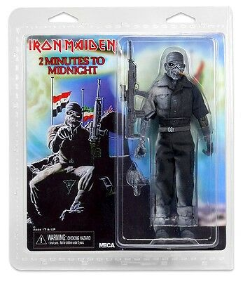 "Neca Iron Maiden Eddie 2 Minutes To Midnight Clothed 8"" Action Figure Retro Doll"