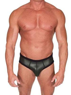 665 Leather Neoprene Open Back Bottoms Black CH