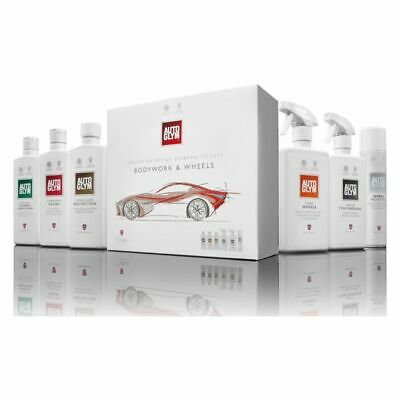 New Autoglym Perfect Bodywork & Wheels Collection Kit Auto Car Care Cleaning Set