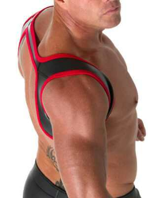 665 Leather Neoprene Slingshot Harness Black/Red L/XL CH