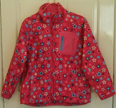 Girls Mountain Life Pink Multicolour Hooded Jacket Age 11-12