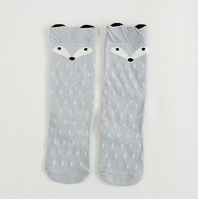 Quality Boutique Style Childrens Socks Foxy Design Beautiful GREY Size 1-2 yrs