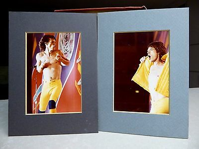 1981 Rolling Stones Concert Photo Mick Jagger without shirt by Bill Hale matted