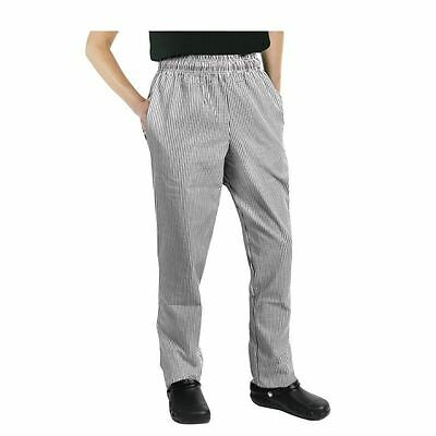 Unisex Mens Women Vegas Chefs Trousers Check Working Cooking Kitchen Cook Pants