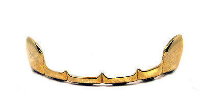 GRILLZ Gold Plated Top Row Half Open Teeth Hiphop Bling Grillz