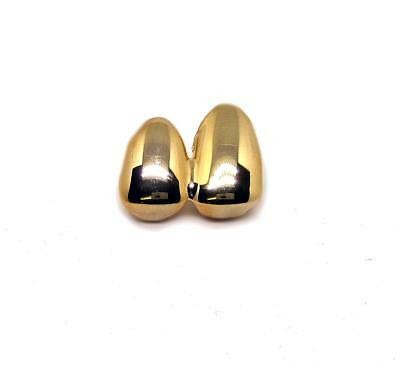 Grillz hiphop bling Plain Gold Plated Double Tooth Clip