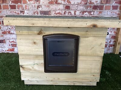 Wooden CAT /dog Kennel/shelter ~box/ pet House with Cat Flap outdoor