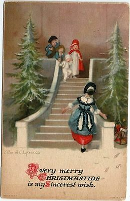 Vintage Christmas Postcard Signed Clapsaddle 1924