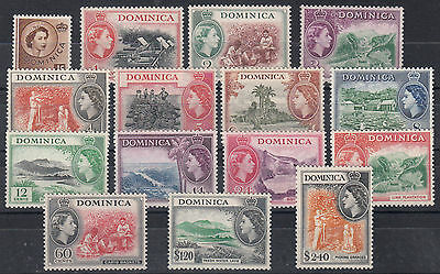 Dominica 1954/62 Qeii 140//158 Mlh Cat. £56