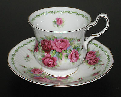 Queens Rosina Fine Bone China England Cup & Saucer, Special Flowers -June Rose