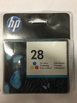 New HP 28 Tri Colour Inkjet Cartridge C8728AE UUS Yields 240 Pages May 2016