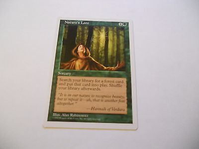 1x MTG Nature's Lore-Sapere della Natura Magic EDH 5th Quinta ed base ING x1