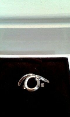 Hot Diamonds Sterling Silver Swirl Ring (BNWT) Size O (RRP £39.95)