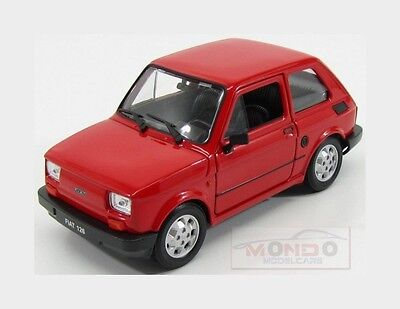 Fiat 126 1972 Red Welly 1:24 WE24066R
