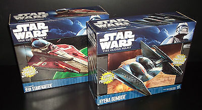 Star Wars The Clone Wars HYENA BOMBER & JEDI STARFIGHTER BNIB