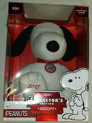 NEW 2015 Peanuts Collector's Edition Snoopy Plush Doll UNOPENED Just Play