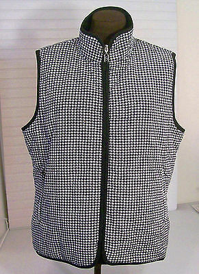 Sport Haley Golf Vest  Womens XL Black & White Classic Quilted EUC