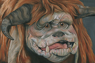 Labyrinth Ludo Oil Painting Greetings Card