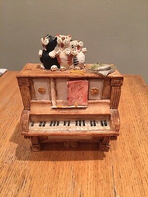 Peter Fagan's Colour Box Cats On A Piano Kittens Musical Hand Painted Scotland