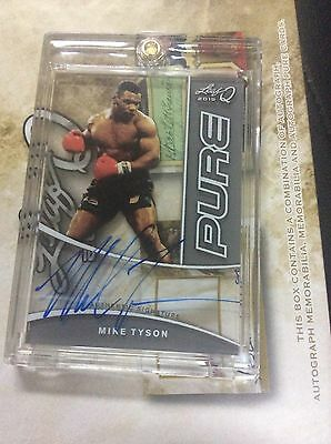 2015 LEAF Q Mike Tyson Pure glass On Card AUTO Autograph Signed SSP Rare