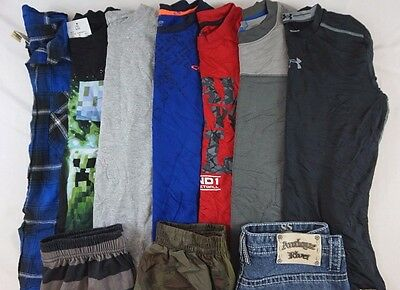 Under Armour Lot of 10 Kids Boys Pants, Jeans, Long Slv Shirts Large L 12 O12513