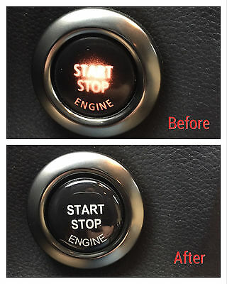 1x BMW Engine start stop button repair kit 3d sticker decal E90 E91 E60 E61 E84