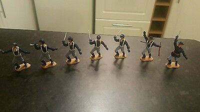 Timpo 7 Union Troopers (5 × 4th series heads)(Complete)