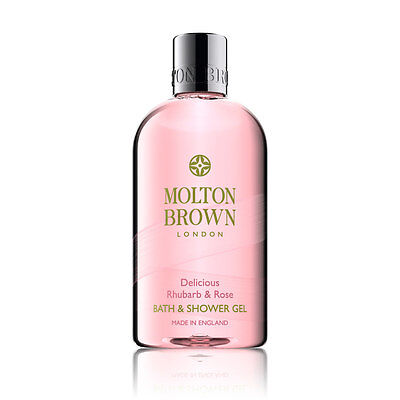 Molton Brown Delicious Rhubarb & Rose Bath & Shower Gel 300ml - NEW