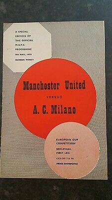 57/58 Manchester United v A C Milan (No Token issued)